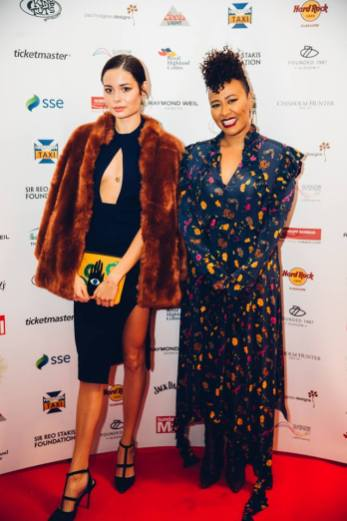 Nina Nesbitt and Emeli Sande at SSE Scottish Music Awards