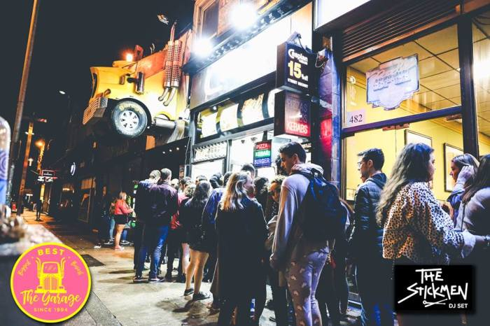 queue outside The Garage - gigs and concerts