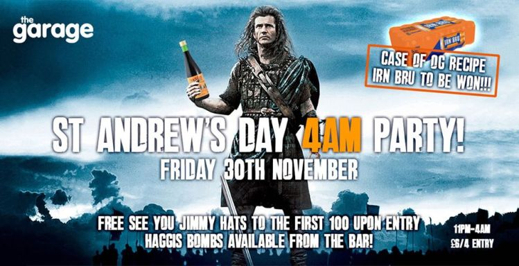 St Andrews Day - The Garage Glasgow