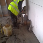 Core Being Drilling In Floor
