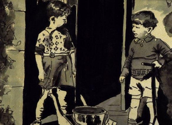 The Kelly boys at Drumdruills - by Peter Gordon