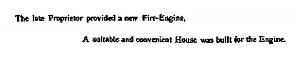 Dunalastair had its own fire-engine