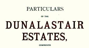 Dunastair for sale, 1890