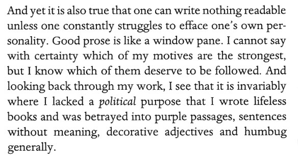 Orwell on writing (I agree)