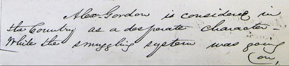 Advocate W. Simpson's letter on Alexander Gordon the Smuggler