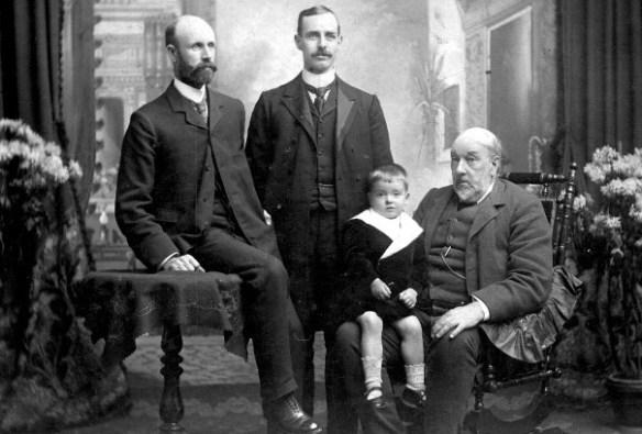 Four generations of Robert Scott, Carluke