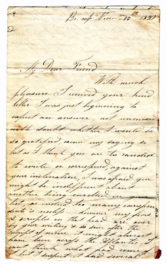 to Susan Rutherford 17 Nov 1831 (1)