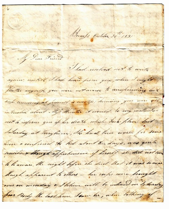 To Susan Rutherford 20 Oct 1831 (1)