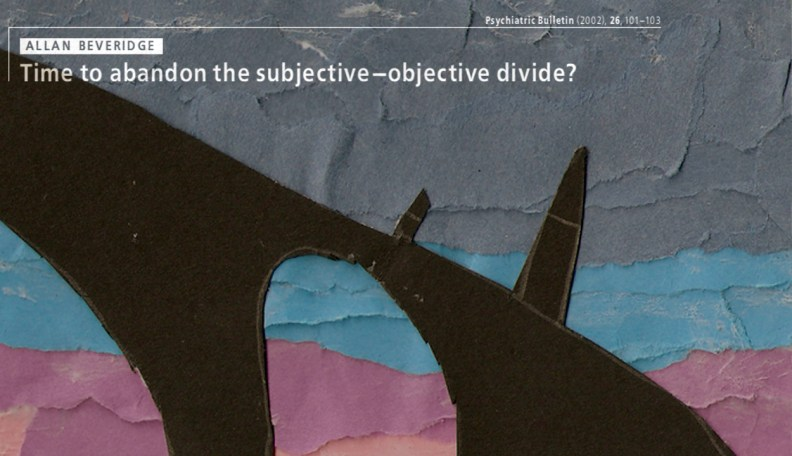 'subjective-objective divide'
