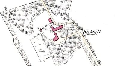 Kirkhill, Broxburn map 1856