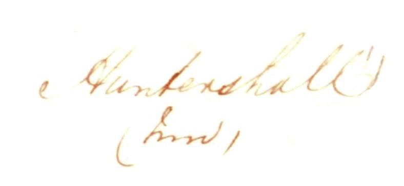 1856 Huntershall OS book