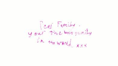 Dear Family by Rachel 5th May 2007