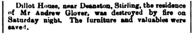 December 1885 - Dillot, Kilmadock