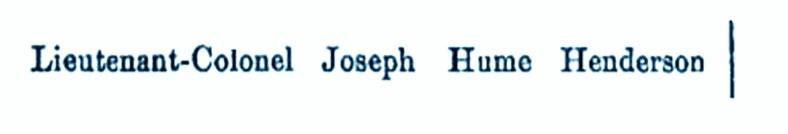 Lieutenant-Colonel Joseph Hume Henderson, Carim Lodge