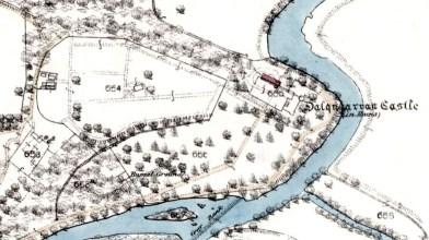 1856 dalquharran castle map