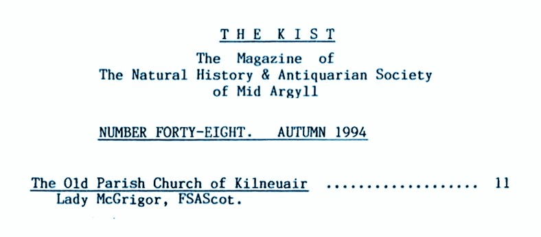 001 The Kist No 48, Kilneuair