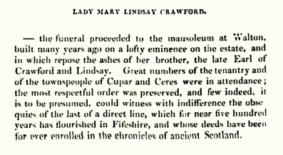 Lady Crawford, Crawford Priory died 12 Dec 1833 (02)