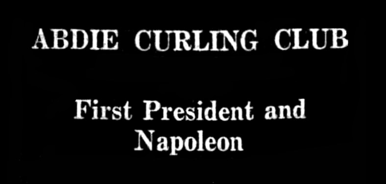 Abdie Curling club - Napoleon