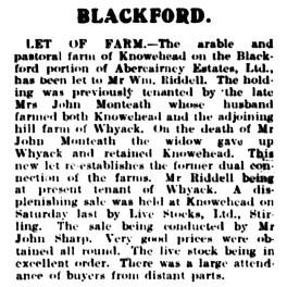 April 1922 Knowehead