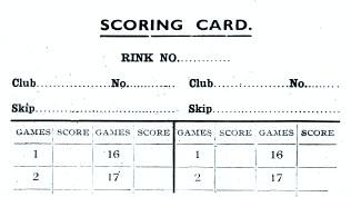 Curling Score card - Abdie