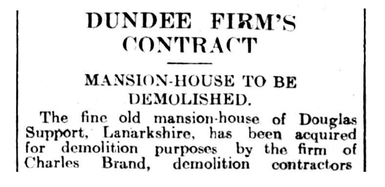 Nov 1932 Douglas Support demolished by Charles Brand
