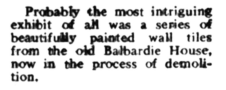 Balbardie - 1973