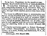 Balbardie - March 1832