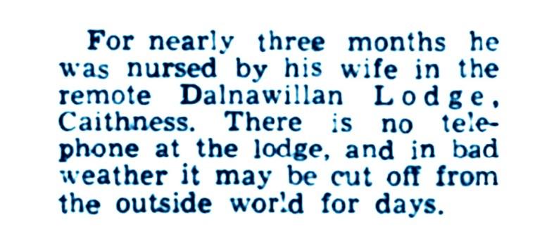 April 1952 - a Liberal patient - Archibald Sinclair - Dalnawillan Lodge 2