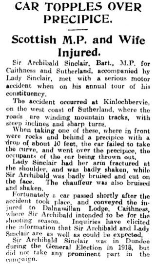 Aug 1924 Sir Archibald Sinclair