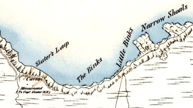 Slater's Loup, Thurso - OS map