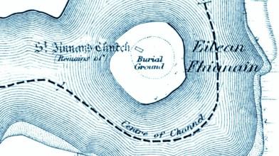 Eilean Fhianain OS map 2