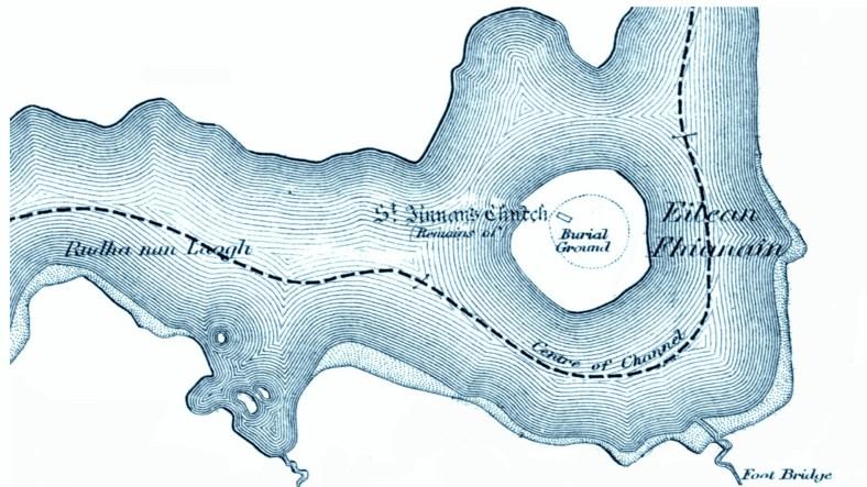 Eilean Fhianain OS map
