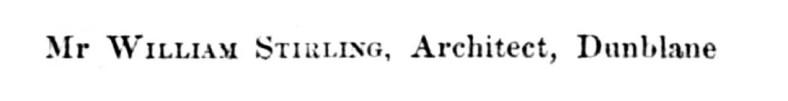 1841 William Stirling, Dunblane 2