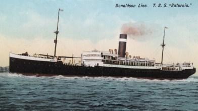 Donaldson Line, Glasgow, Canada - Saturnia