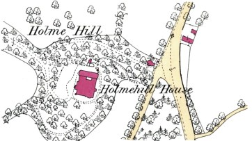 Holme Hill, Dunblane, 1st OS map