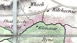 1833 map Glenour