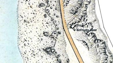 Bennane Cave Os map 1855