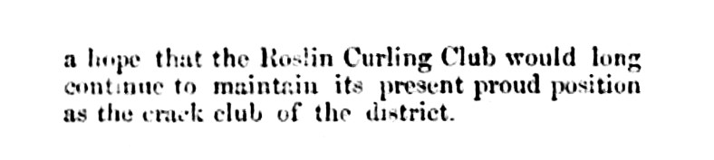 Feb 1861 Roslin Curling Club