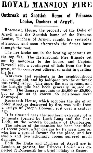 15 April 1911 Rosneath Castle, Argyll