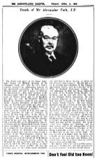 1934 death of Alexander Park, Factor for Gartshore