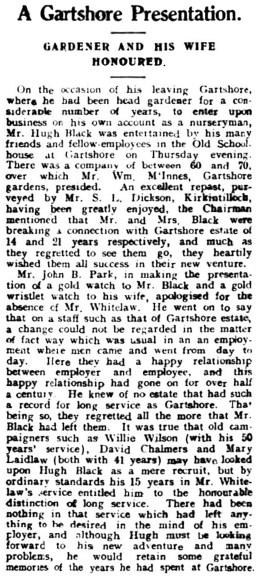 1937 Gartshore Gardener honoured