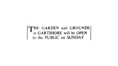 1952 Gartshore Gardens and Grounds are Open