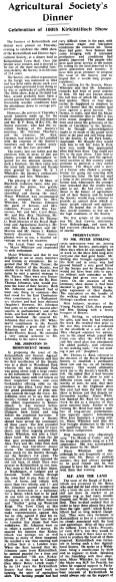 1958 Kirkintilloch District Agricultural Society - centenary