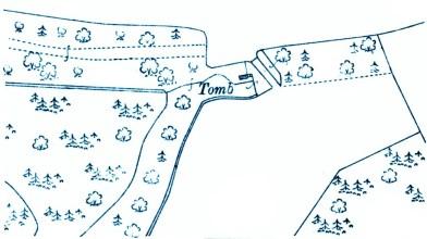 Glenhove Tomb OS map 1913