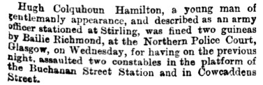 Hugh Colquhoun Hamilton June 1884