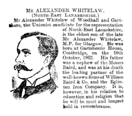 Mr Alexander Whitelaw, Gartshore, 1892, MP