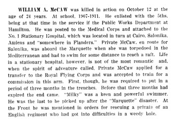 (8) William Armstrong McCaw, died 1917, aged 24 - Copy