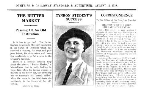 Aug 1939 Sarah Armsttrong, Cormilligan 1