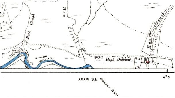 High Dalblair OS map 1899