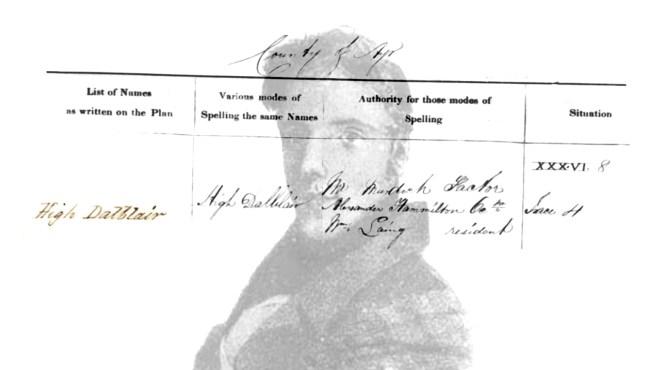 James Hyslop 1798-1827 and High Dalblair